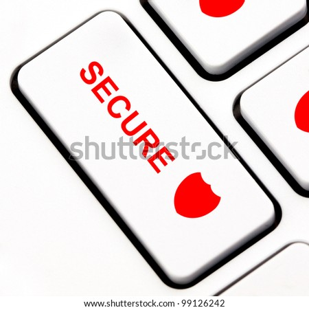Secure button on keyboard