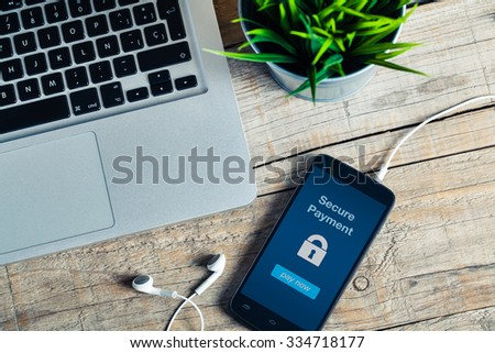 secure payment message on smart ...