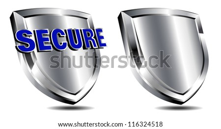 Secure Shield Protection - Antivirus security protection firewall - Raster Version