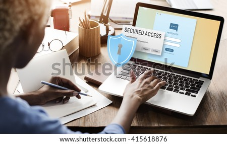 Secured Access Protection Online Security System Concept