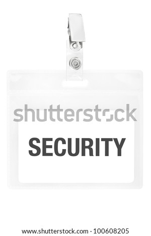 Security badge or ID pass isolated on white background, clipping path included - stock photo