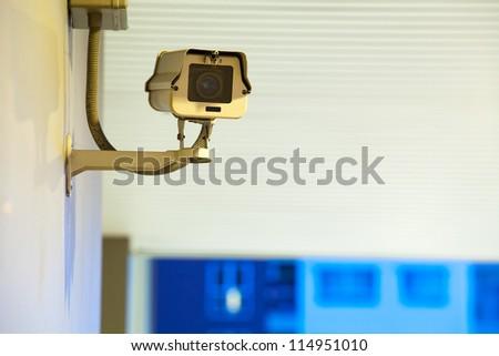 Security Camera, CCTV on location at night