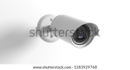 Security Camera CCTV. Surveillance cam isolated on white background. 3d illustration