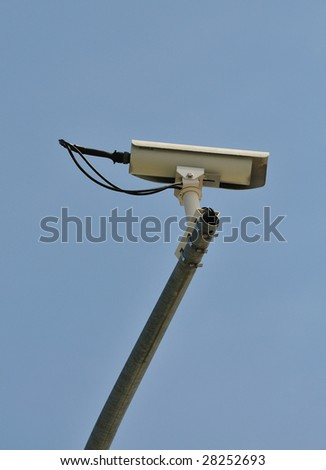 security camera in the intersection