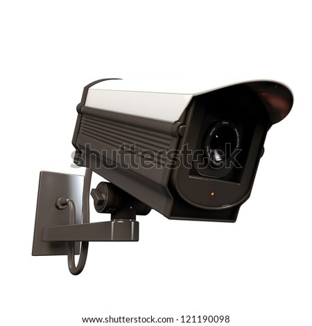 security camera isolated on white background