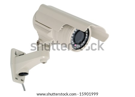 Security camera isolated on white background - clipping path included