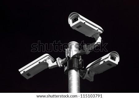 security camera on street horizon