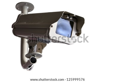 Security Camera or CCTV isolate on white background
