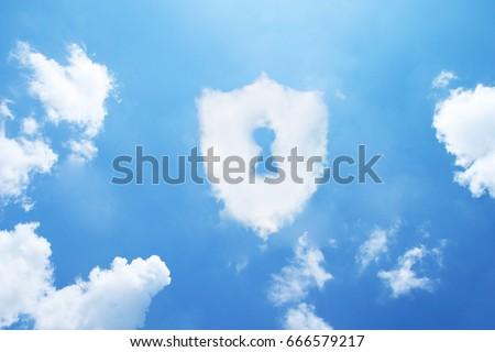 Security cloud form on sky.