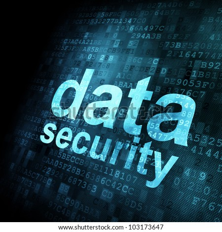 Security concept: Data on digital screen, contrast, 3d render - stock photo