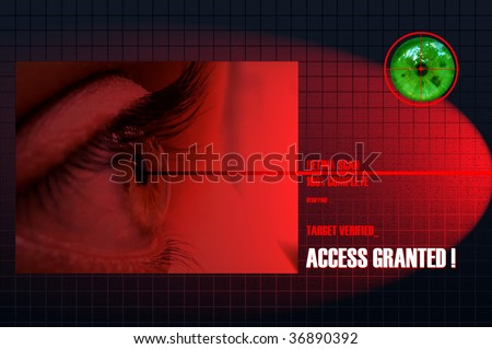 Security Concept: Retina Scan for security and authenticated entry