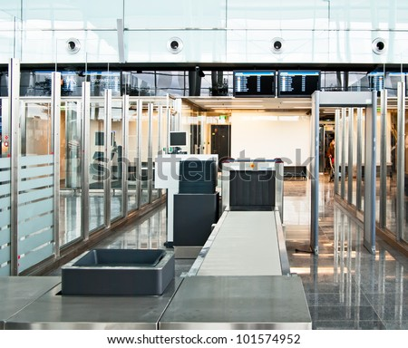 security control point at the airport