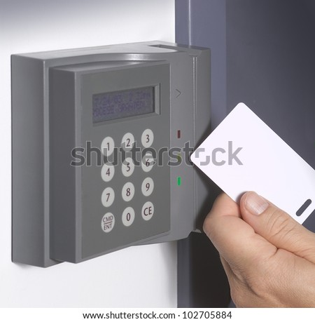 Security entrance touch pad