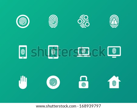 security fingerprint icons on
