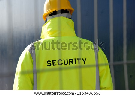 Security guard and protective fence.