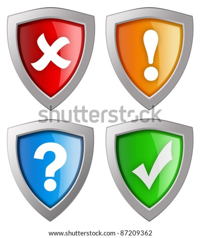 Security icons collection isolated on white
