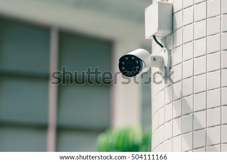 Security IR camera for monitor events in city.