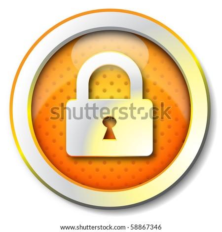 Security lock icon - stock photo