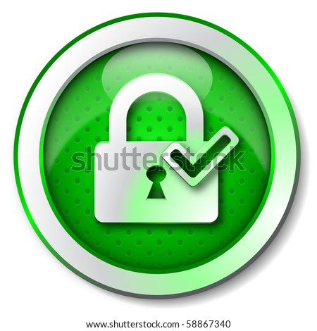 Security lock ON icon