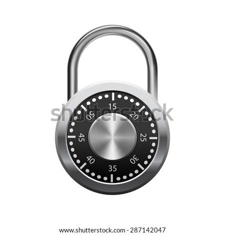 Security padlock isolated
