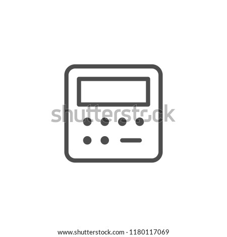 Security panel line icon isolated on white