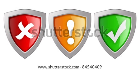 Security shields illustration