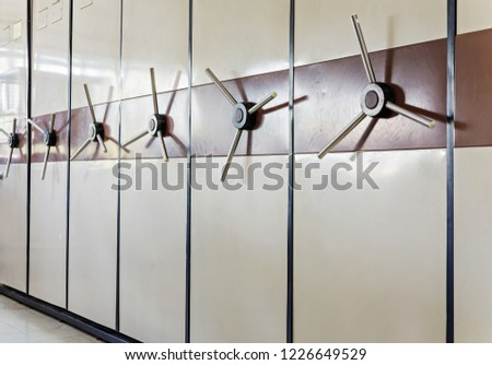 Security store room, a shelf to keep important documents and belongings, safety cabinet