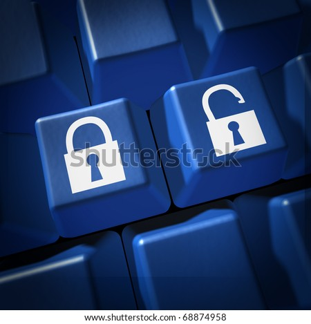 security technology lock un locked firewall computer keyboard key IT support select hacking