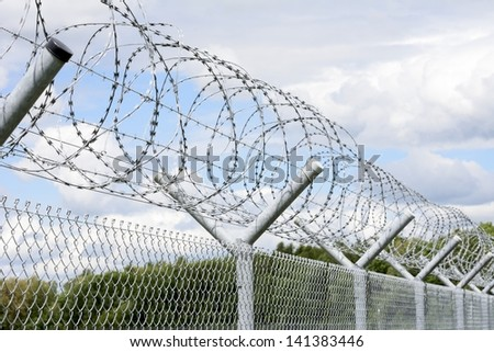 Security with a barbed wire fence