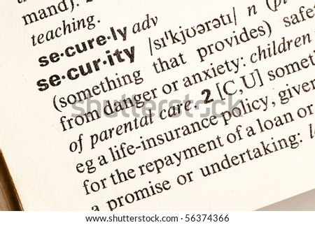security word closeup - stock photo