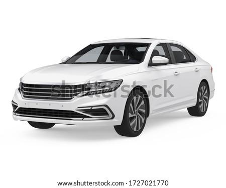 Sedan Car Isolated. 3D rendering Сток-фото ©