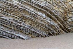 Sedimentary rocks. Natural corrugated stone schistous, background