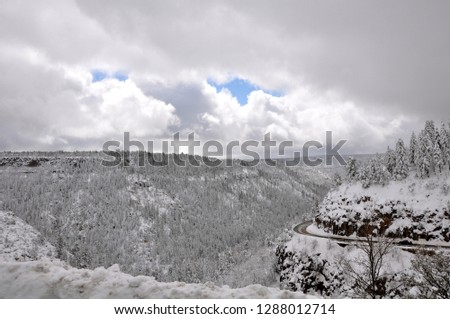 Sedona Arizona after a blizzard