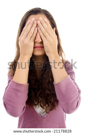 see no evil on an isolated background