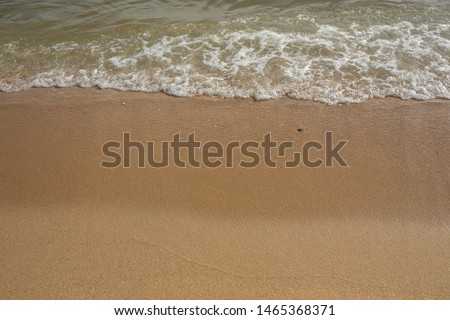 see sea sand on beach and wave