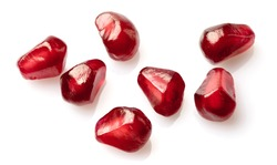 Seeds of pomegranate in closeup