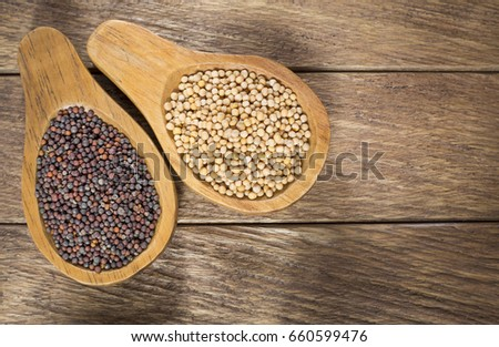 Seeds of yellow and black mustard