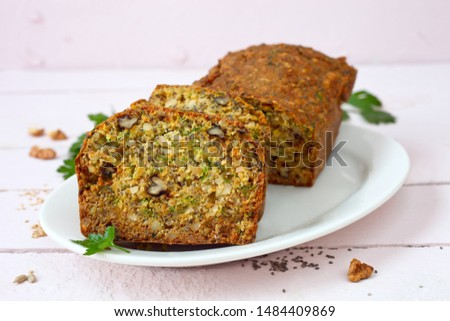 Seedy Nut Low Carb Bread With Herbs #1484409869