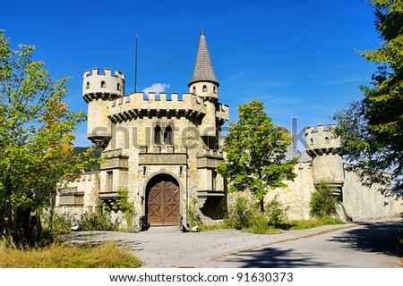 Seefeld castle - stock photo