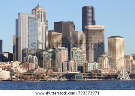 seen Downtown Seattle from West Seattle #793373971