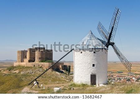 Seen from the mills Consuegra Toledo (Spain)