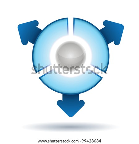 Segmented Presentation template - JPG version of a vector illustration from my portfolio