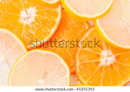 Segments of fruit