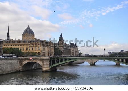 Seine in center of Paris