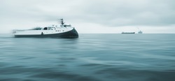 Seismic Survey, Oil Research and Exploration in the North Sea