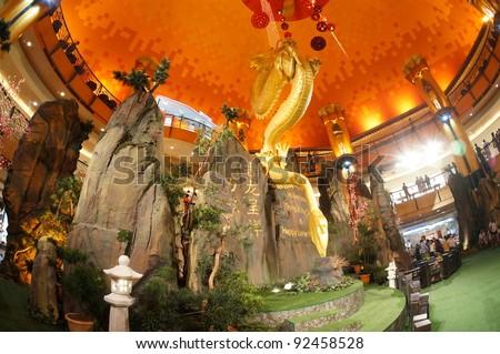 cny mall decoration hongkong.