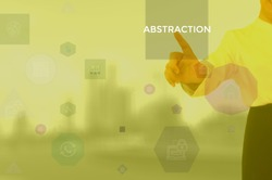 select ABSTRACTION - technology and business concept