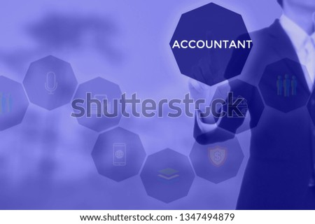 select ACCOUNTANT - technology and business concept #1347494879