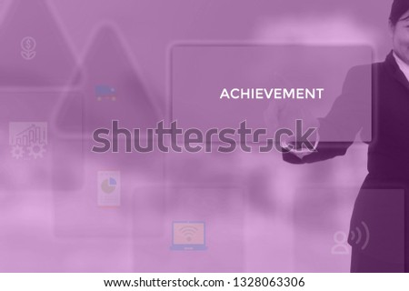 select ACHIEVEMENT - technology and business concept #1328063306