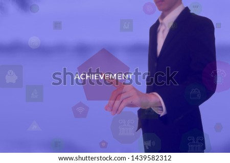 select ACHIEVEMENT - technology and business concept #1439582312